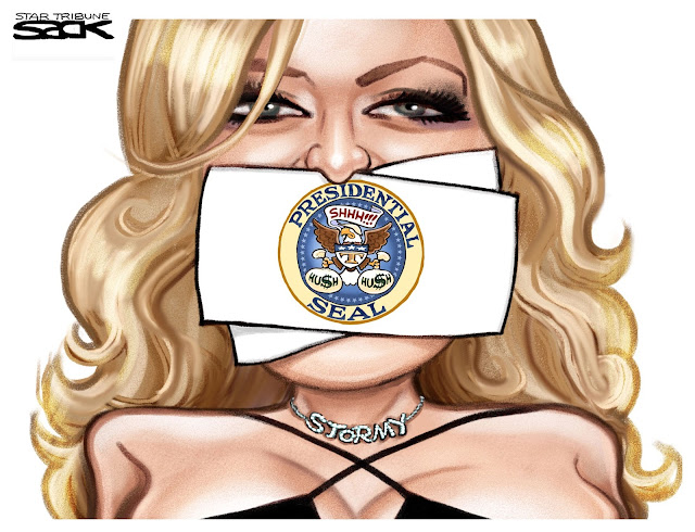 Stormy Daniels Silenced Cartoon