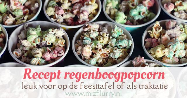 regenboog popcorn recept