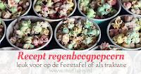 Recept regenboogpopcorn - leuk voor op de feesttafel of als traktatie