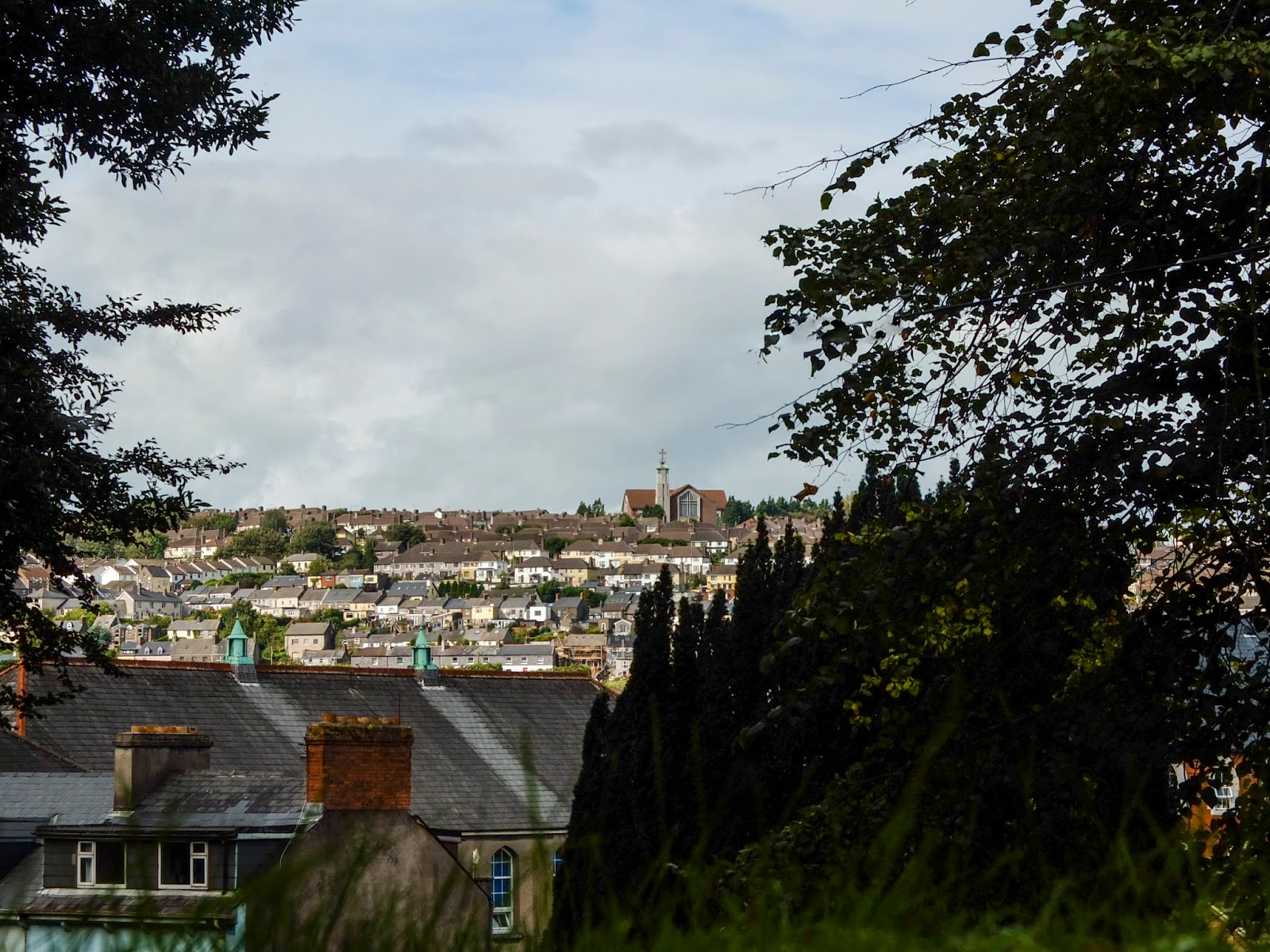 Views of Cork City from St Fin Barre's Cathedral.
