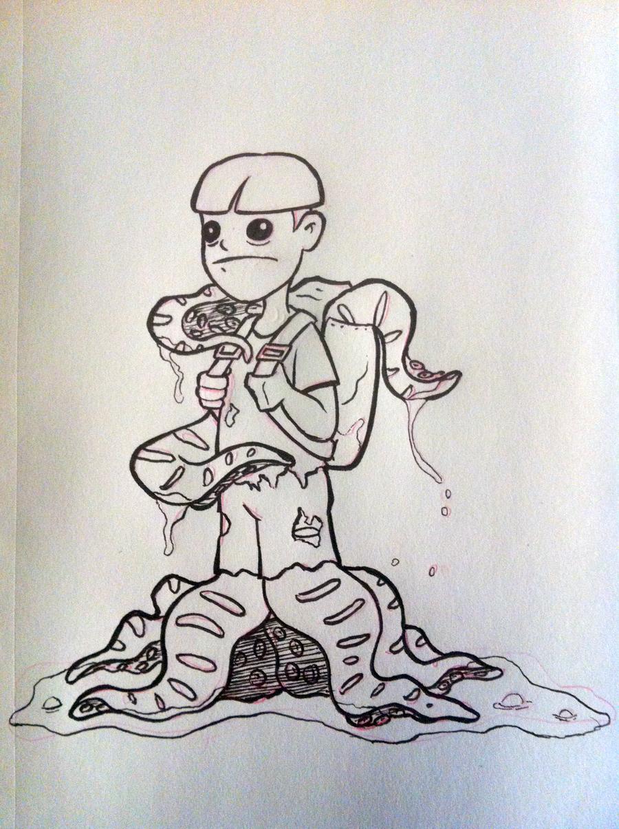 A Million Bad Drawings: Creepy Octo-Kid