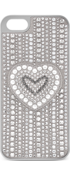 Swarovski Silver-Tone Crystal Heart iPhone Case