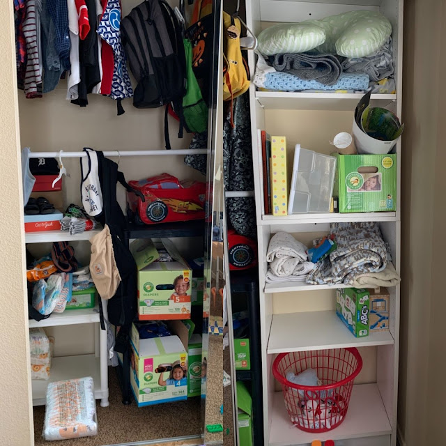 Budget-friendly toddler closet organizing ideas- Before