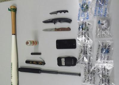 Συνελήφθησαν δύο άτομα για διακίνηση ναρκωτικών ουσιών και παραβάσεις του νόμου περί όπλων και βεγγαλικών
