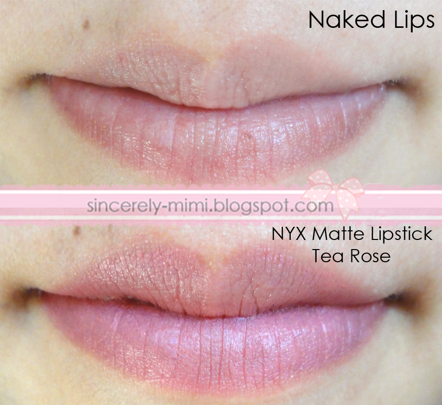 Sincerely Mimi Nyx Matte Lipstick In Tea Rose Review Swatch