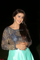 Nikki Galrani in Green Skirt  Top at Marakathamani music launch ~  Exclusive (130).JPG