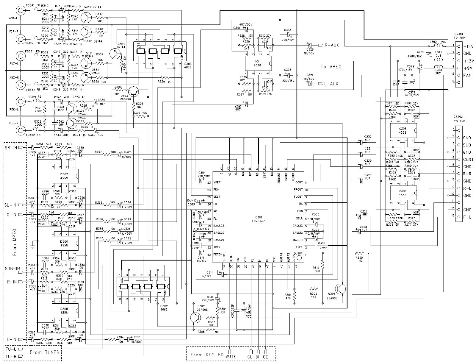 Akira Hts28dvd Home Theater System Schematic Diagram
