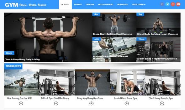 Templat blogger Multiguna Responsif Gym dirancang khusus untuk situs kesehatan, blog kebugaran, blog mode dan fotografi.