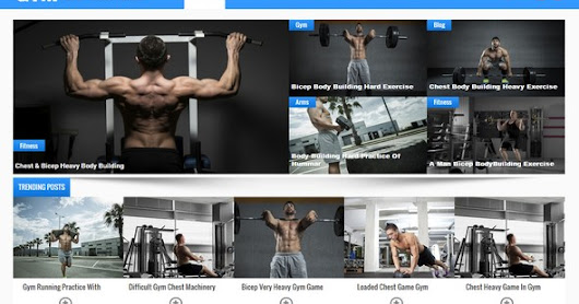 Gym MultiPurpose Blogger Template