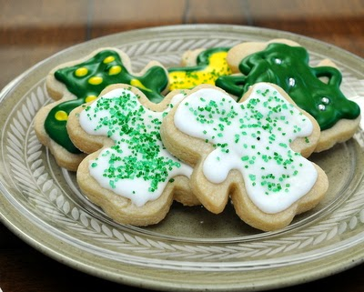 No-Chill Cutout Sugar Cookies, here for St. Patrick's Day. Just mix and roll, no need to wait for the dough to chill. Easy to handle, great-tasting cookies.