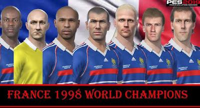 PES 2019 Facepack France 1998 World Cup by MictlanTheGod