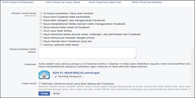 Alasan Menonaktifkan Facebook