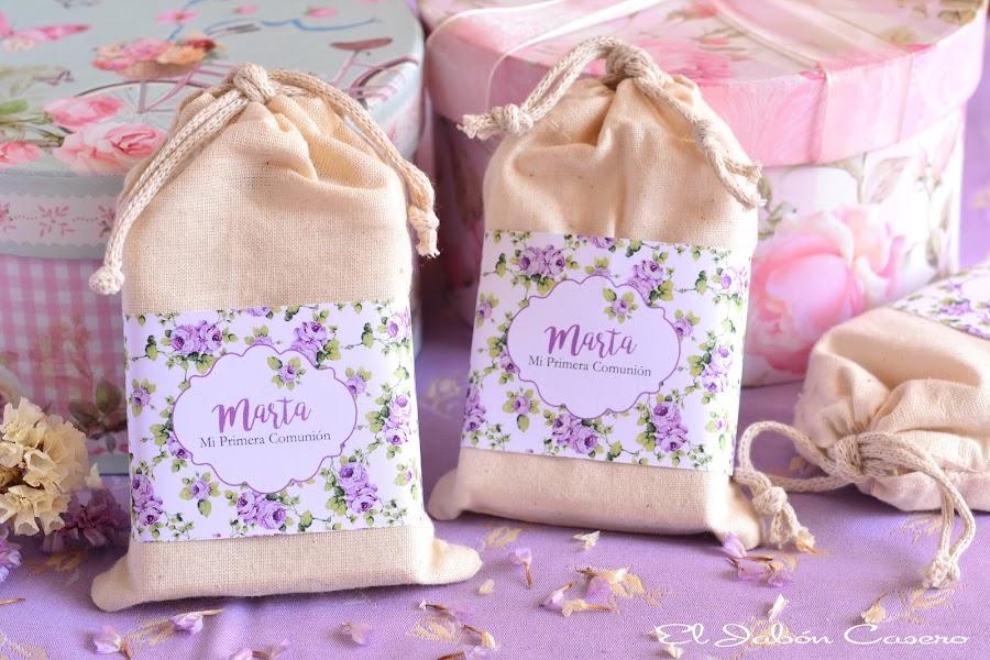 Detalles para invitados bolsitas con jabones naturales