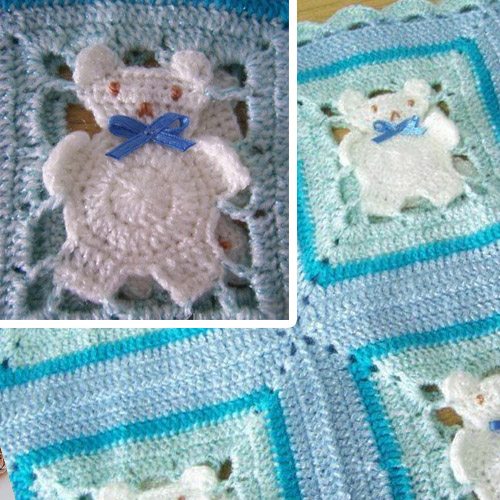 Free Teddy Bear Crochet Afghan Pattern : Crochet For Children: Teddy Bear Crochet Afghan - Free Diagram