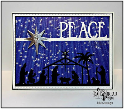 Our Daily Bread Designs Paper Collection: Christmas Card 2016, Our Daily Bread Designs Custom Dies: Peace Border, Pierced Rectangles, Shining Star