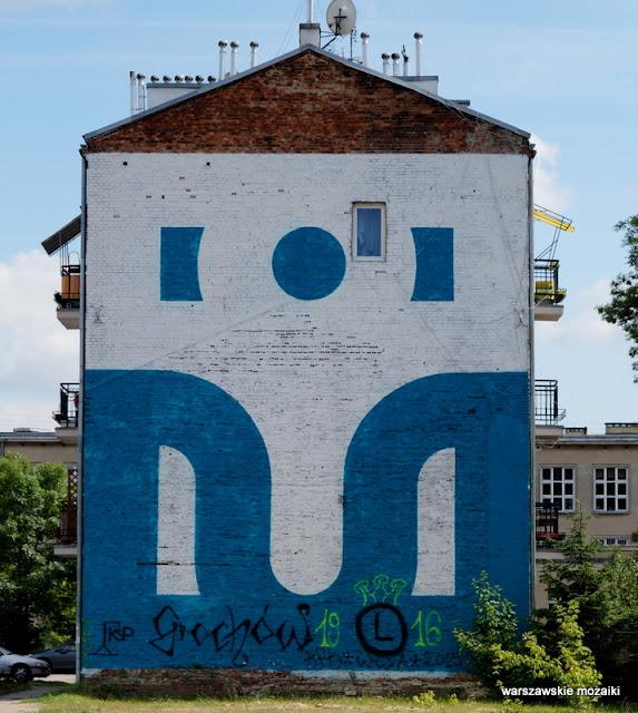 Warszawa Warsaw graffiti mural streetart blok Praga
