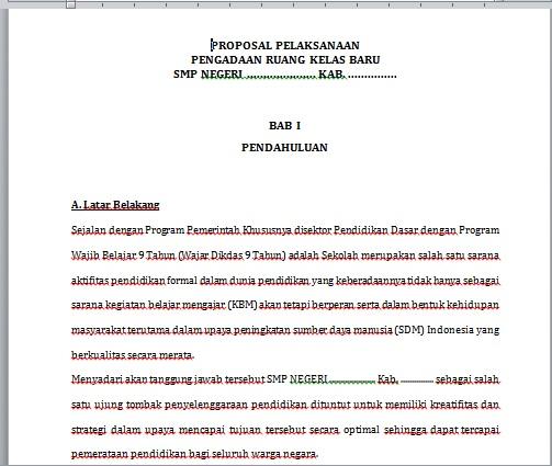 Proposal Contoh Kaidah Sistematika Latar Belakang Pengertian
