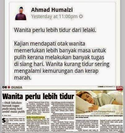 Wanita Perlu Lebih Tidur