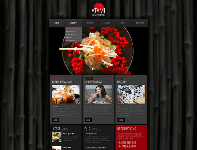 Free WordPress Theme - Restaurant