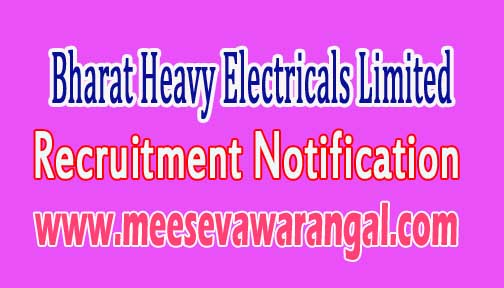 BHEL (Bharat Heavy Electricals Limited) Recruitment Notification 2016