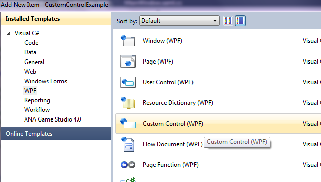 DOT NET TRICKS: Writing a Reusable Custom Control in WPF