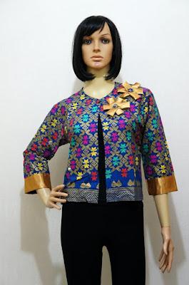 Model Cardigan Batik Modern Pendek