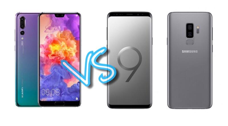 Huawei P20 Pro versus Samsung Galaxy S9+