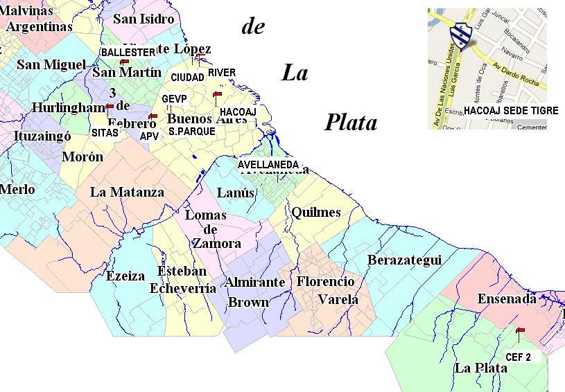 Cestoball Argentino Buenos Aires Mapa De Los Equipos Del Torneo Oficial De Capital Federal