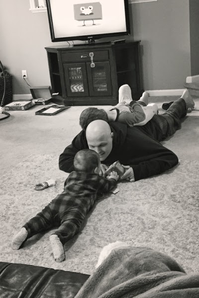 daddy playing with the boys