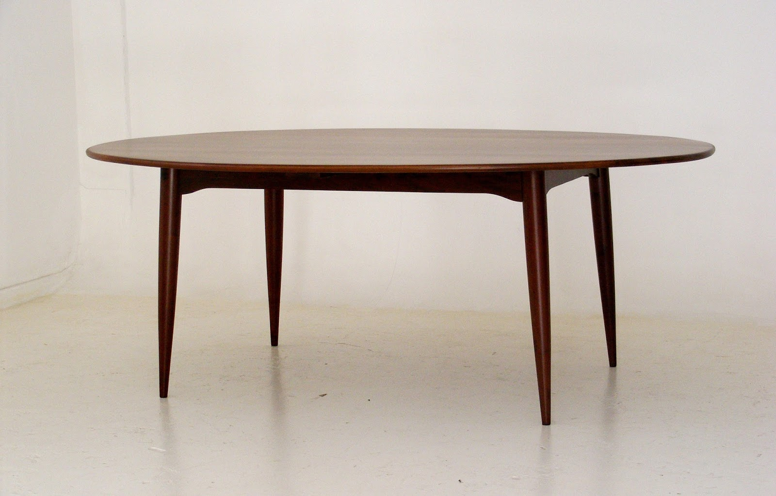 VAMP FURNITURE An Exceptional Solid Imbuia Wood Midcentury Dining - Solid wood mid century dining table