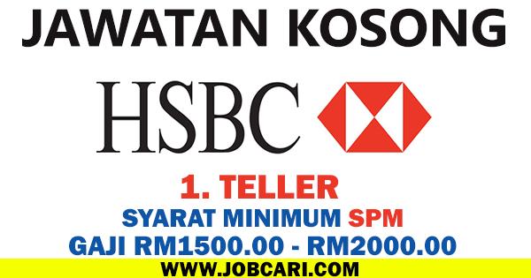 TELLER BANK HSBC KUANTAN PAHANG 2016