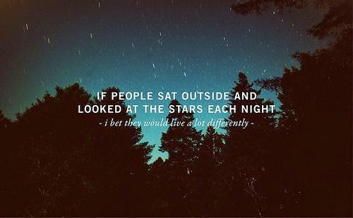 Nice thoughts on stars