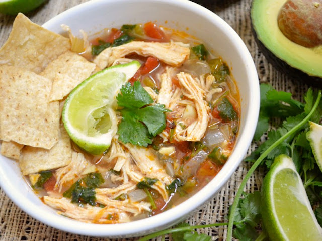 Chicken and Lime Soup #healthy #paleo