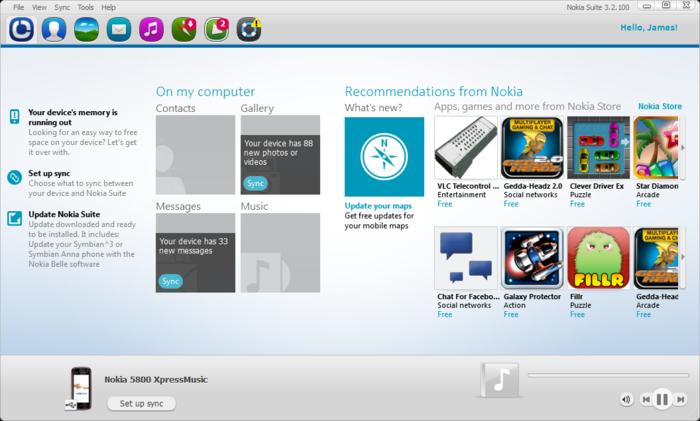 برنامج تعريف موبايل نوكيا Nokia على الكمبيوتر Nokia PC Suite | موقع التعريفات العربية