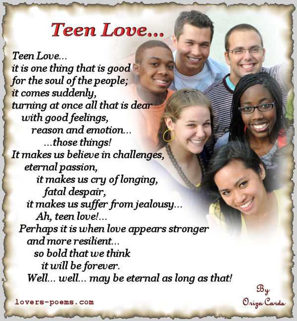 Teenage Love Quotes For Her: Love Poems For Teens