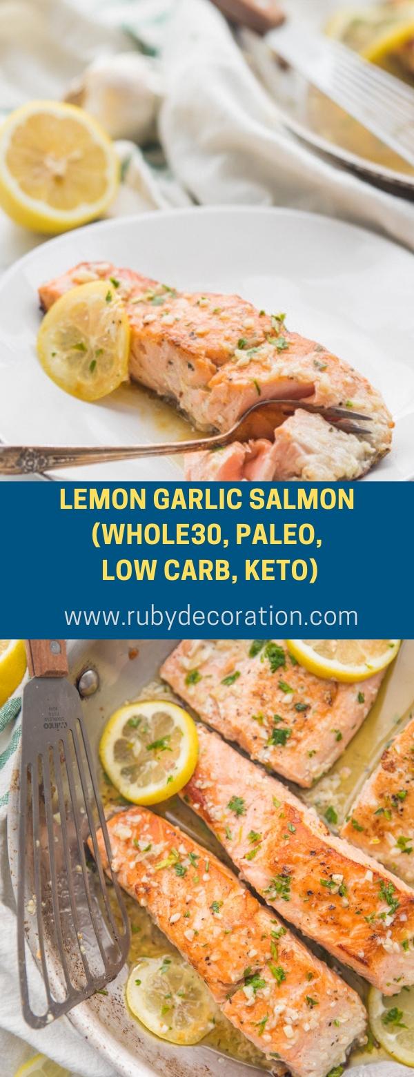 Lemon Garlic Salmon (Whole30, Paleo, Low Carb, Keto)