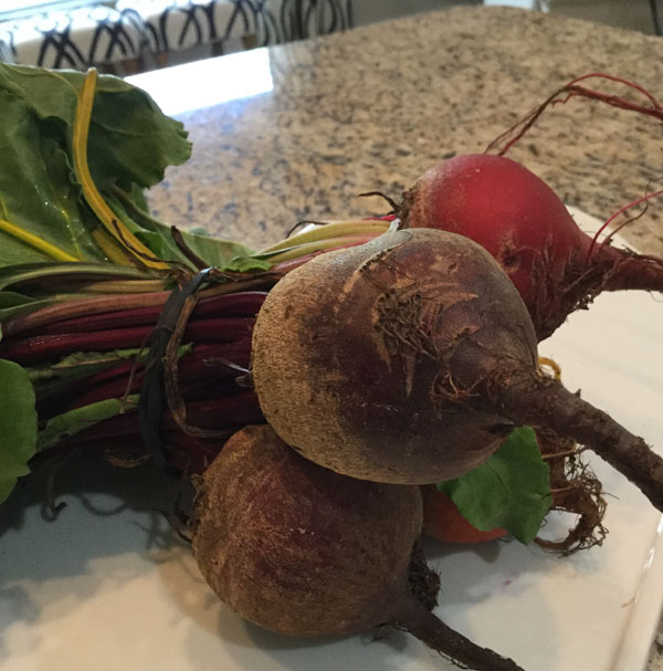 A bunch of beets