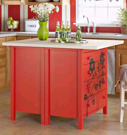 kitchen island made from dresser dishfunctional designs upcycled awesome kitchen islands 8197