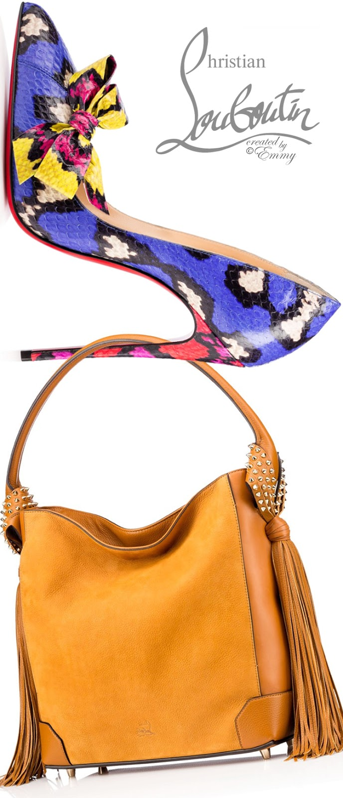 Brilliant Luxury ♦ Christian Louboutin Madame Menodo Ayers Moreila & Eloïse Hobo Bag