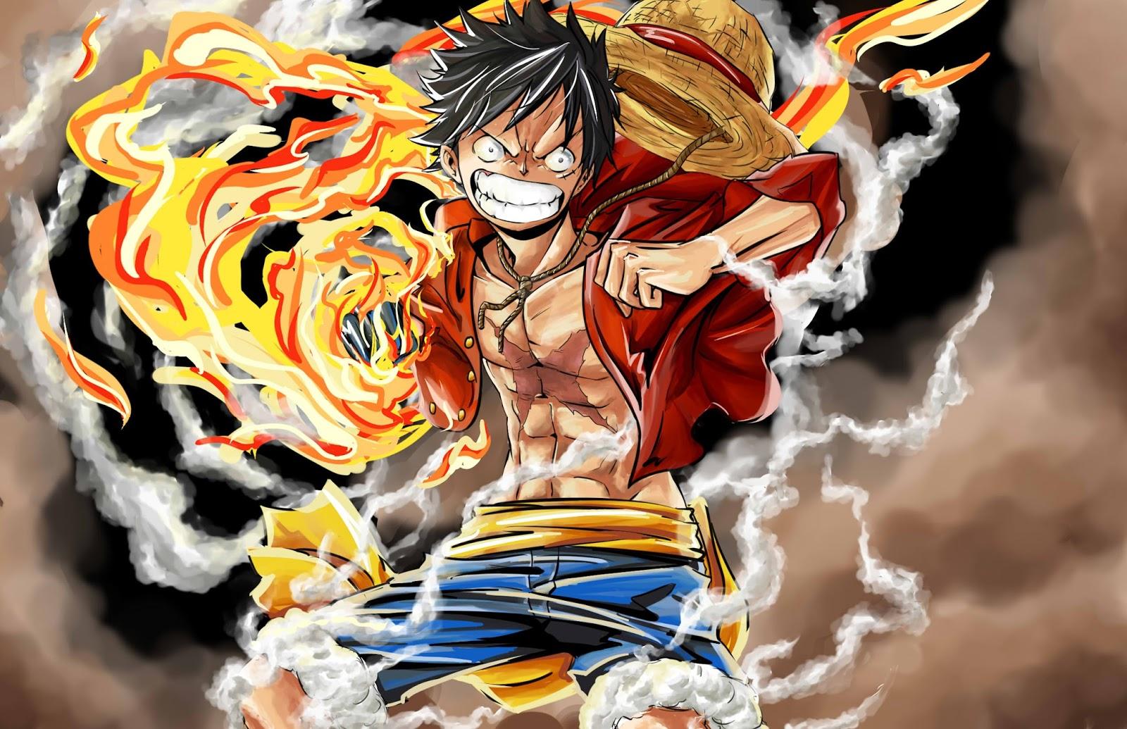 One Piece Luffy Red Hawk Wallpaper HD For Desktop - Aniwallz