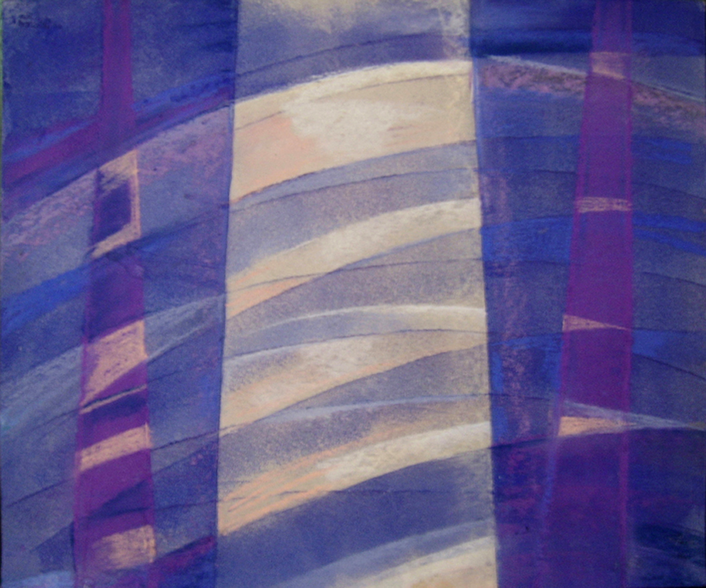 Artist Mirjana Krstevska: ORIGINAL ABSTRACT SOFT PASTEL