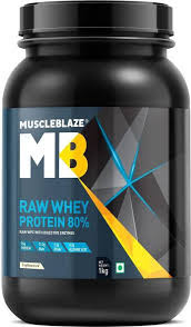 MuscleBlaze Raw Whey Protein.