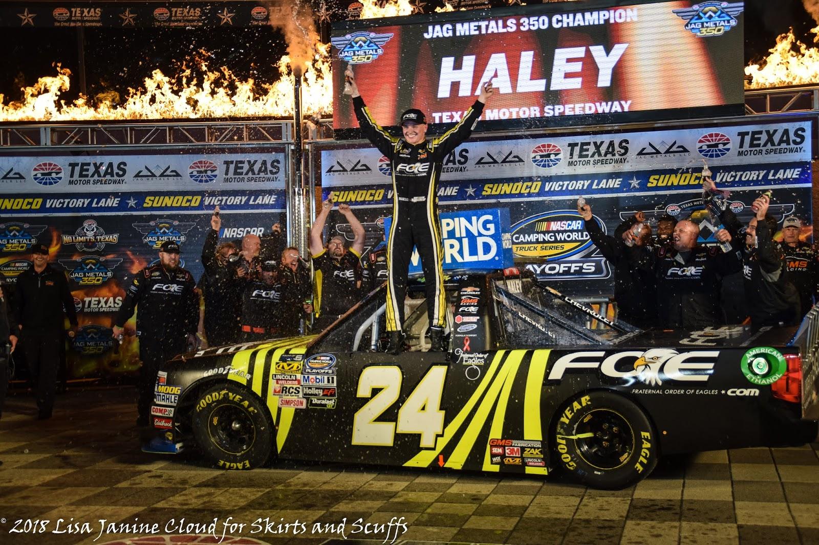 Todd Gilliland comes up short on fuel, Justin Haley grabs win at
