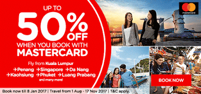 AirAsia Flight Ticket Fares MasterCard Discount Promo