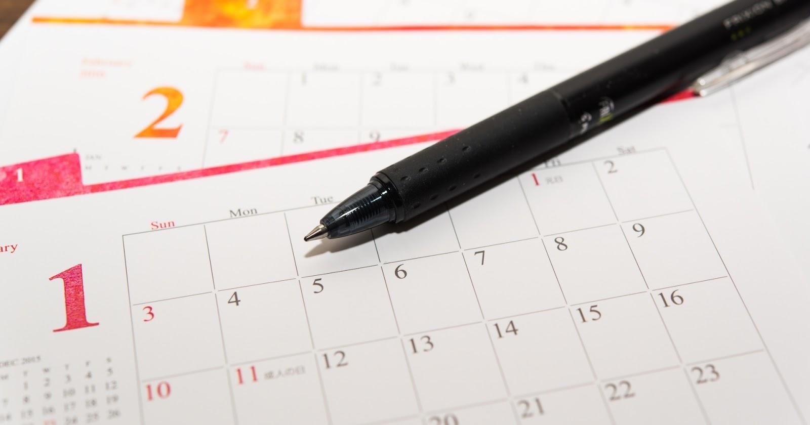 2018 免費列印行事曆的5個方法:在筆記本準備漂亮年度計畫