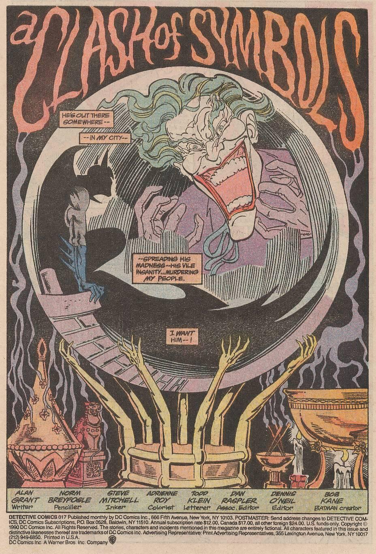 Detective Comics (1937) 617 Page 1