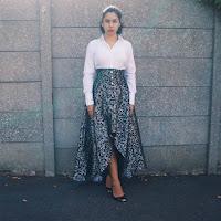 Ana Maddock-Corset Story Brocade Skirt