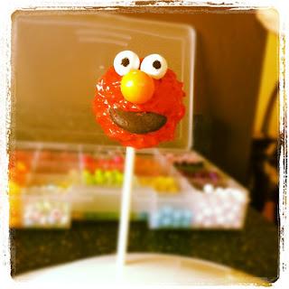 Elmo Cake Pop Stand