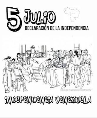Dibujos Para Colorear 5 De Julio Venezuela