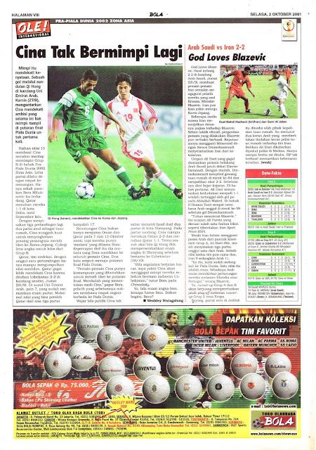 PRA-PIALA DUNIA 2002 ZONA AMERIKA ASIA